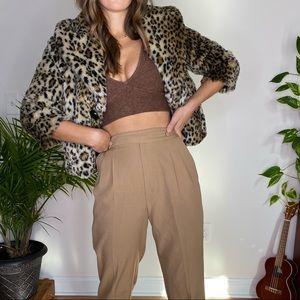 Cheetah Print Faux Fur Jacket ✨